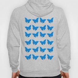 Light Blue Bold Mod Butterflies Hoody