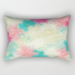 Tropical Fan Palm Paradise – Colorful Rectangular Pillow