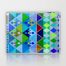 Cobalt Blue Diamond pattern Laptop & iPad Skin