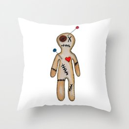 "VoodoDoll ""He"" Throw Pillow"