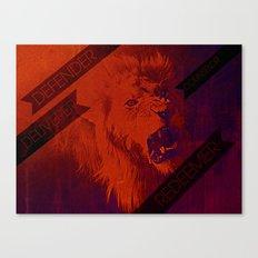 ROARING LIKE A LION Canvas Print