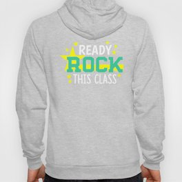 KIDS CUTE SCHOOL  ROCK THIS CLASS BACK TO SCHOOL FIRST DAY ROCK Hoody