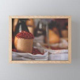Red Gold Framed Mini Art Print