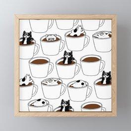 More Coffee French Bulldog Framed Mini Art Print