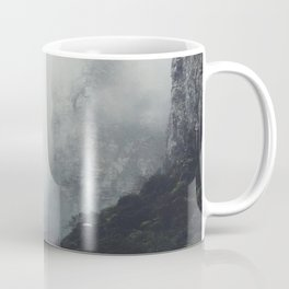 Misty Mountain Cliff Rocky Rapids Foggy Misty Landscape Photography Coffee Mug
