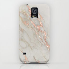 Marble - Rose Gold Marble Metallic Blush Pink iPhone Case