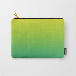 Meadowlark, Lime Punch, Arcadia Blurred Minimal Gradient | Pantone colors of the year 2018 Carry-All Pouch