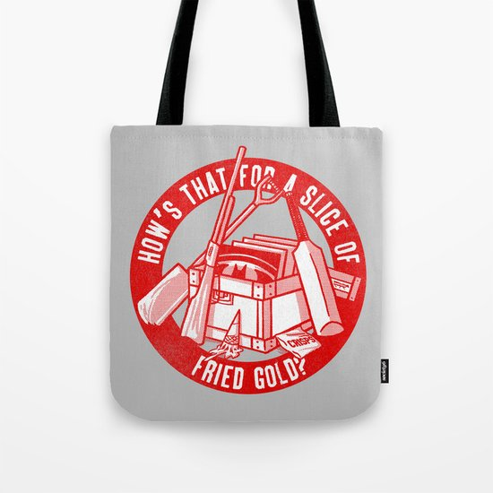 Fried Gold (red on you variant) Tote Bag