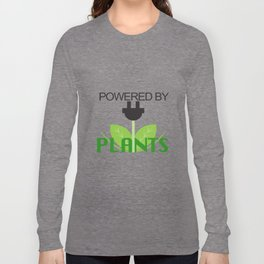 Powered by Plants Vegan Art 2 Long Sleeve T-shirt