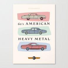 Motor Style Inc.: 60s American Heavy Metal Canvas Print