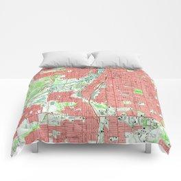 Vintage Map of Grand Rapids Michigan (1967) Comforters