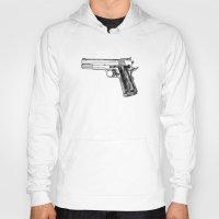 gun Hoodies featuring GUN by Seth Beukes