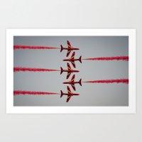 RAF Red Arrows Cross Paths Art Print