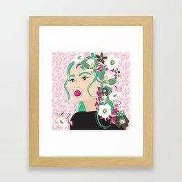 Floral & Feminine - Determined Framed Art Print