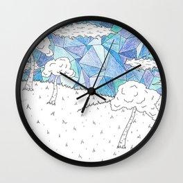 Skys of Blue Wall Clock