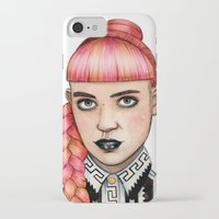 grimes iPhone & iPod Cases featuring Grimes II by Helen Green