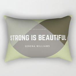 Strong Is Beautiful - Serena Williams Rectangular Pillow