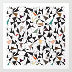 Triangles Colorful Art Print