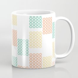 Pastel geometric abstract pattern with rectangles Coffee Mug