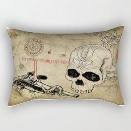 Skull Two Rectangular Pillow