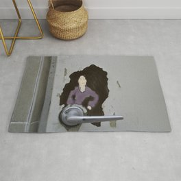 The Door knob Lady Rug