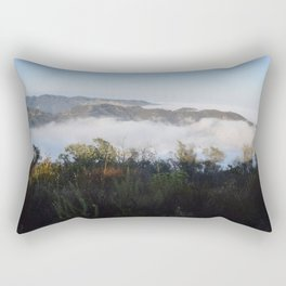 Marine Layer Mist Rising Through Topanga Canyon Looking South Rectangular Pillow