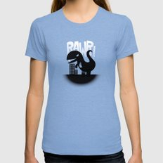 Rawr! SMALL Tri-Blue Womens Fitted Tee