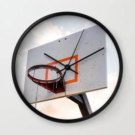 basketball hoop 4 Wall Clock