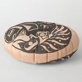 Pacific Northwest Orca Floor Pillow