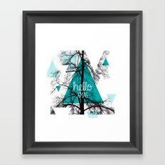 Hello christmas - winter tree geometric photography print Framed Art Print