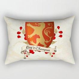 King's Champion - Lioness Shield Rectangular Pillow