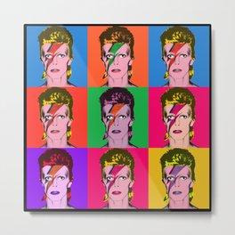 Bowie Warhol Style Metal Print
