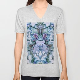 Abstract graphic mirror 2 Unisex V-Neck