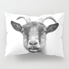 Black and White Goat Pillow Sham