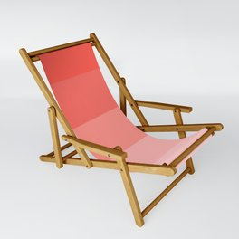 Living Coral Gradient Stripes Sling Chair