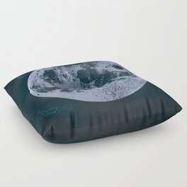 Large Night Sky Moon Print, by Christy Nyboer Floor Pillow