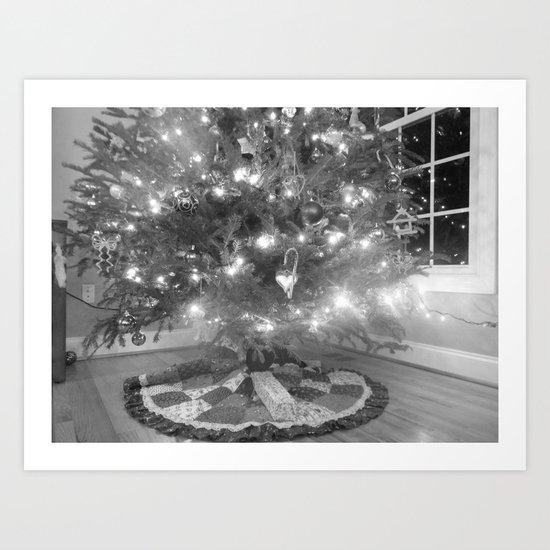 Under the Christmas tree. Art Print