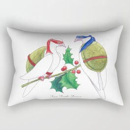 Two Turtle Doves Rectangular Pillow