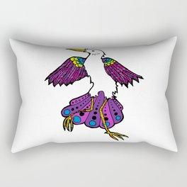 Colorful Bird Dance Rectangular Pillow