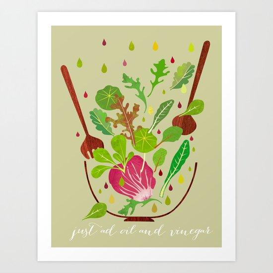 just ad oil and vinegar 2 Art Print