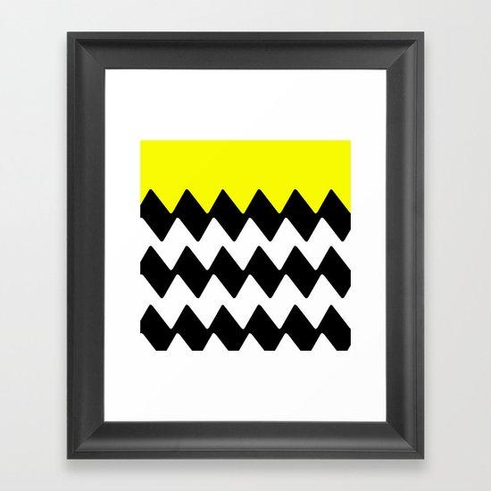 Zig Zag Framed Art Print