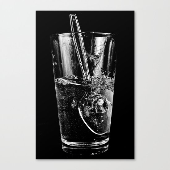 Glass and Spoon Canvas Print