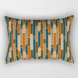 Modern Tabs in Brown, Teal, Burnt Orange Rectangular Pillow