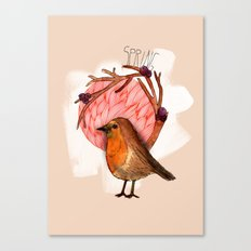 Spring birdy / Nr. 5 Canvas Print