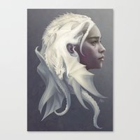 artgerm Canvas Prints featuring Mother of Dragons by Artgerm™
