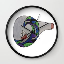 Ship in a Bottle Wall Clock