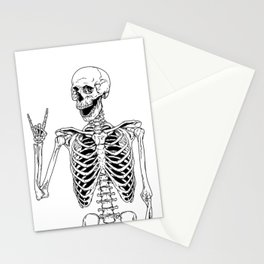 Rock and Roll Skeleton Stationery Cards