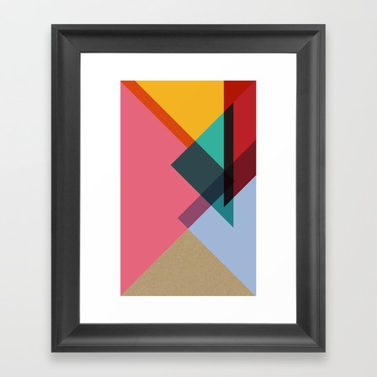 Triangles (Part 2) Framed Art Print