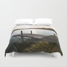 Salmon Sunrise Duvet Cover