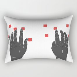 A Touch of Creativity Red Rectangular Pillow